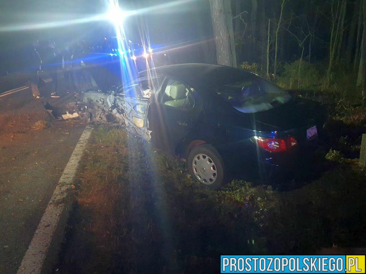 wypadek DK 45, wypadek na drodze krajowej wypadek jasienie , wypadek kluczbork wypadek na trasie, laweta, policja, pomoc drogowa, straż,