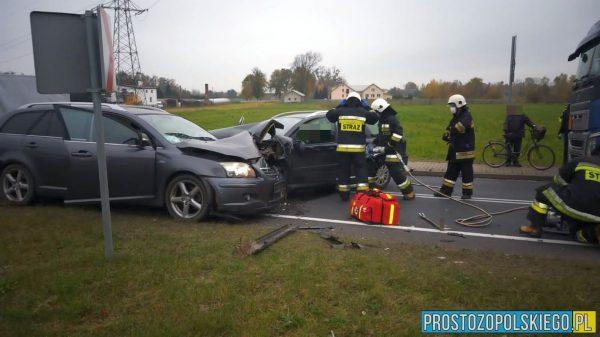 kowale wypadek, wypadek koło olesna, wypadek kowale, poważny wypadek, zderzenie samochodów, powiat oleski, wypadek w oleskim,