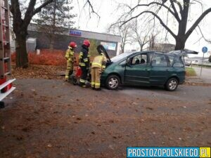 pożar samochodu na ozimskiej w Opolu,