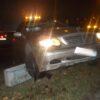 wypadek w nysie, nysa wypadek, autem w barierki, mercedese w barierki, samochodem zawisł, nysa, pomoc drogowa,