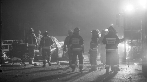 wypadek śmiertelny, śmierc na drodze, śmieć w wyniku wypadku, śmiertelny na drodze, ofiara śmiertelna, obwodnica Kędzierzyna, wypadek śmiertelny Kędzierzyn-Koźle, wypadek 2 tirów i osobówki, 2 tiry i osobowy, zgineła osoba w wypadku, wiadomości Opolskie,