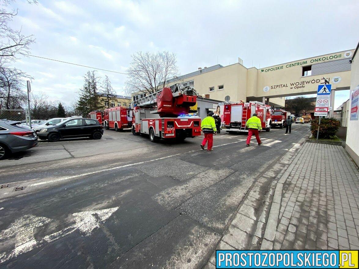 Ogień w Szpitalu Wojewódzkim w Opolu, pożar w szpitalu, ogonień w szpitalu, dym w szpitalu gasili szpital, ewakuacja szpitala, szpital w ogniu, straż w szpitalu,