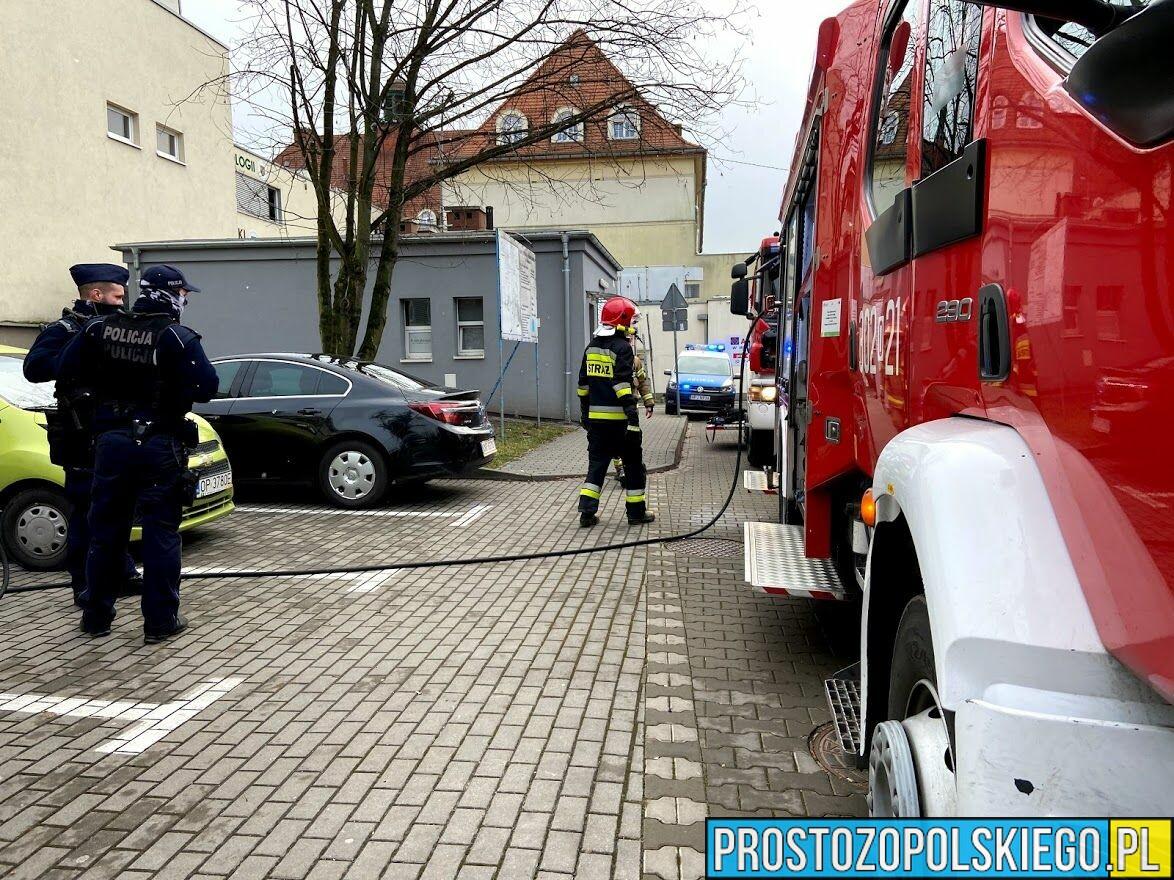 Ogień w Szpitalu Wojewódzkim w Opolu