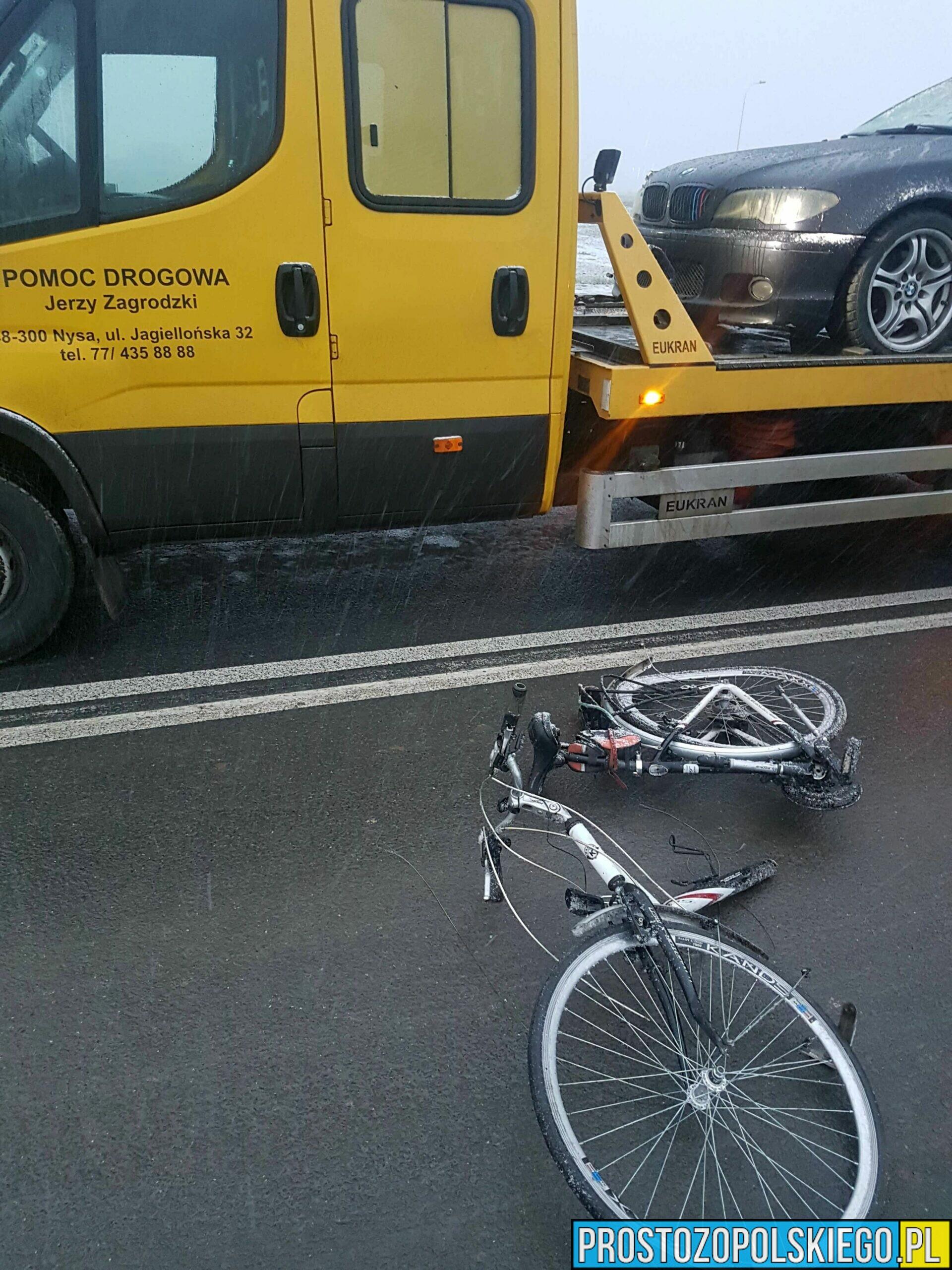 Rowerzysta śmiertelnie potrącony w Nysie
