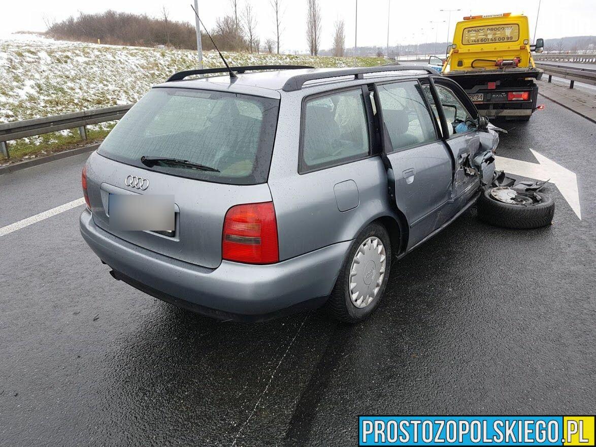 Wypadek na obwodnicy Otmuchowa. Jedna osoba została poszkodowana