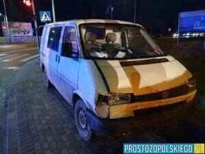 Wypadek na DK94 na obwodnicy Brzegu. Kobieta i jej dwoje dzieci, zostali zabrani do szpitala