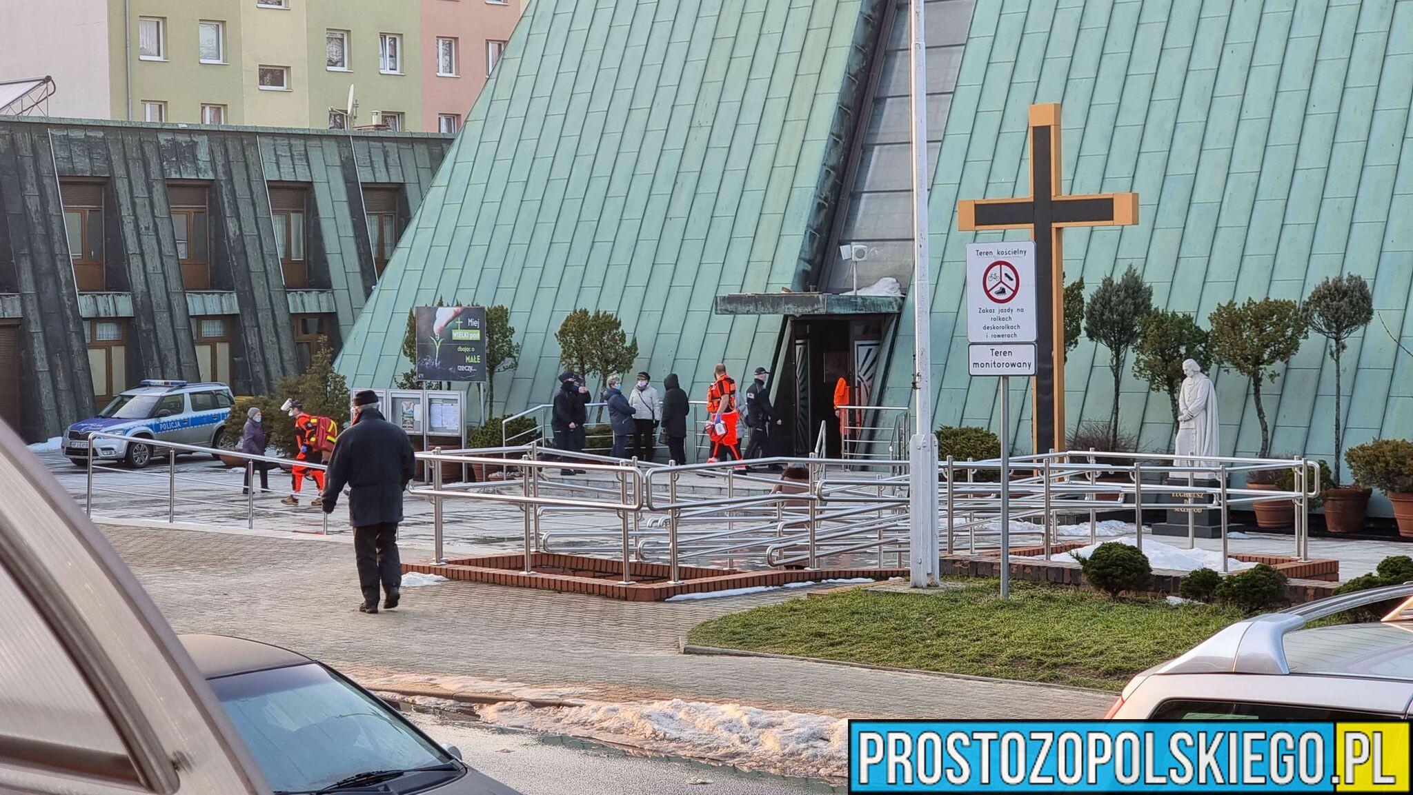 Kobieta zmarła w kościele w Kędzierzynie Koźlu.