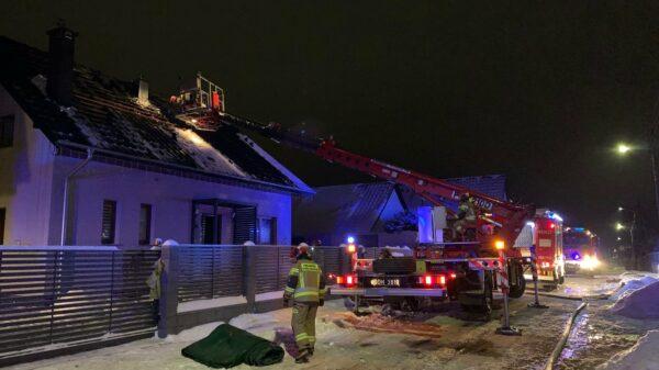 Pożar domu w Krapkowicach.(Zdjęcia)