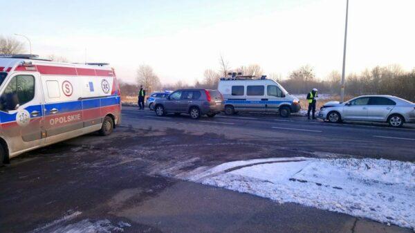 Wypadek na ul.Wrocławskiej w Opolu.