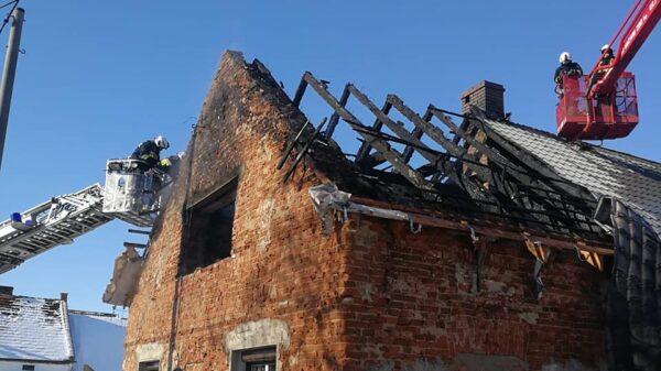 pożar budynku, pożar budynku w bielicach, pożar koło łambinowic, pożąr rejon nysa, pożar powiat nyski, pożar domu, spalony dom, potrzebna pomoc, zrzutka, Pożar poddasza w budynku w Bielicach koło Łambinowic.(Zdjęcia)