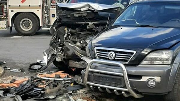 Wypadek na obwodnicy Kluczborka (Zdjęcia)