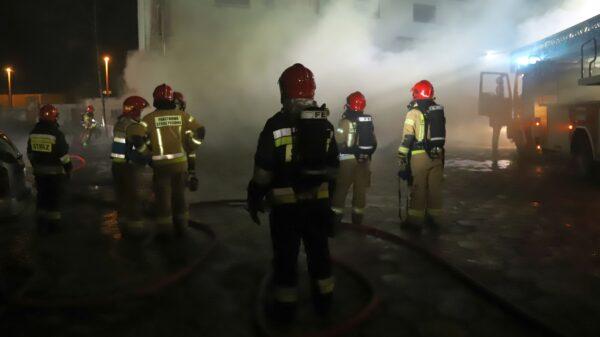 Pożar historycznego budynku kasyna wojskowego