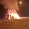 Spowodował wypadek i uciekał palący się autem na obwodnicy Opola.(Wideo)
