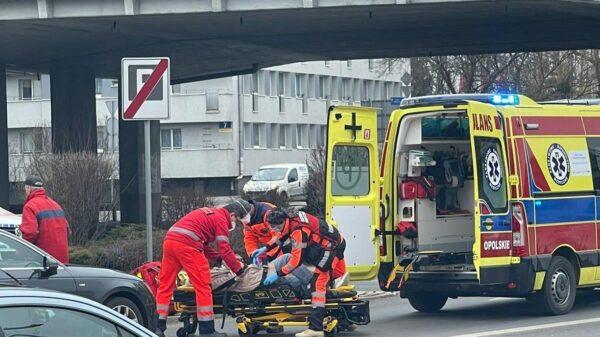 Potrącenie rowerzystki w centrum Opola.(Zdjęcia)