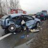 Wypadek na obwodnicy Brzegu.Są osoby poszkodowane w tym dzieci.
