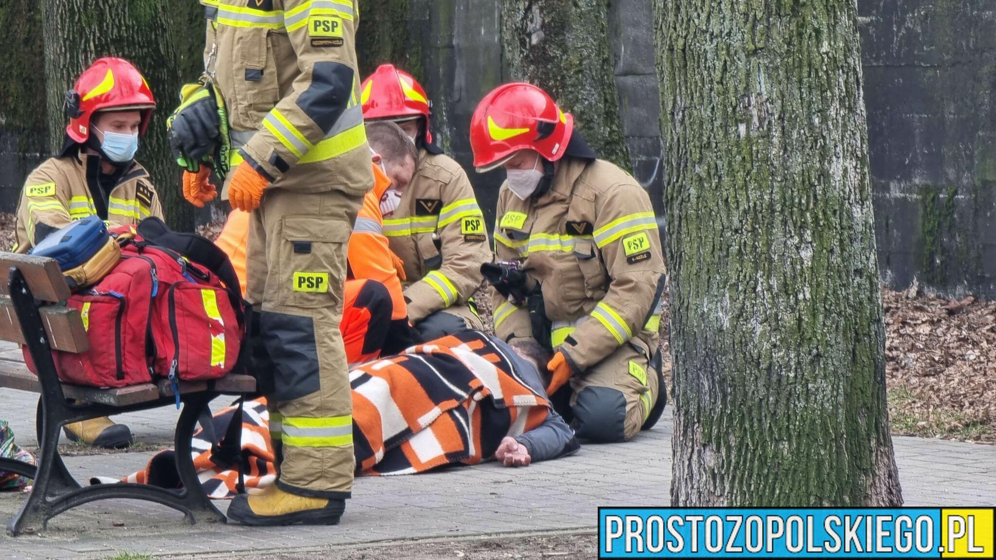 Nie było wolnej karetki. Interweniowali strażacy. Co się stało?