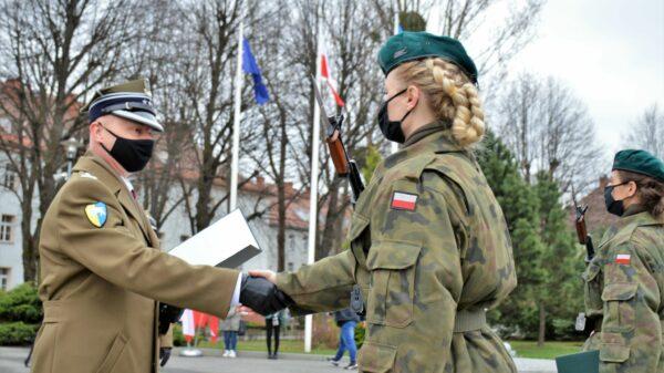 Przysięga wojskowa elewów.(Zdjęcia)