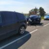 Zderzenie 4 pojazdów w powiecie prudnickim na DK 40, jest osoba ranna.(Zdjęcia)