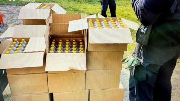 Ponad 700 litrów alkoholu bez polskich znaków akcyzy warte 60 000 zł zatrzymali funkcjonariusze opolskiej KAS.