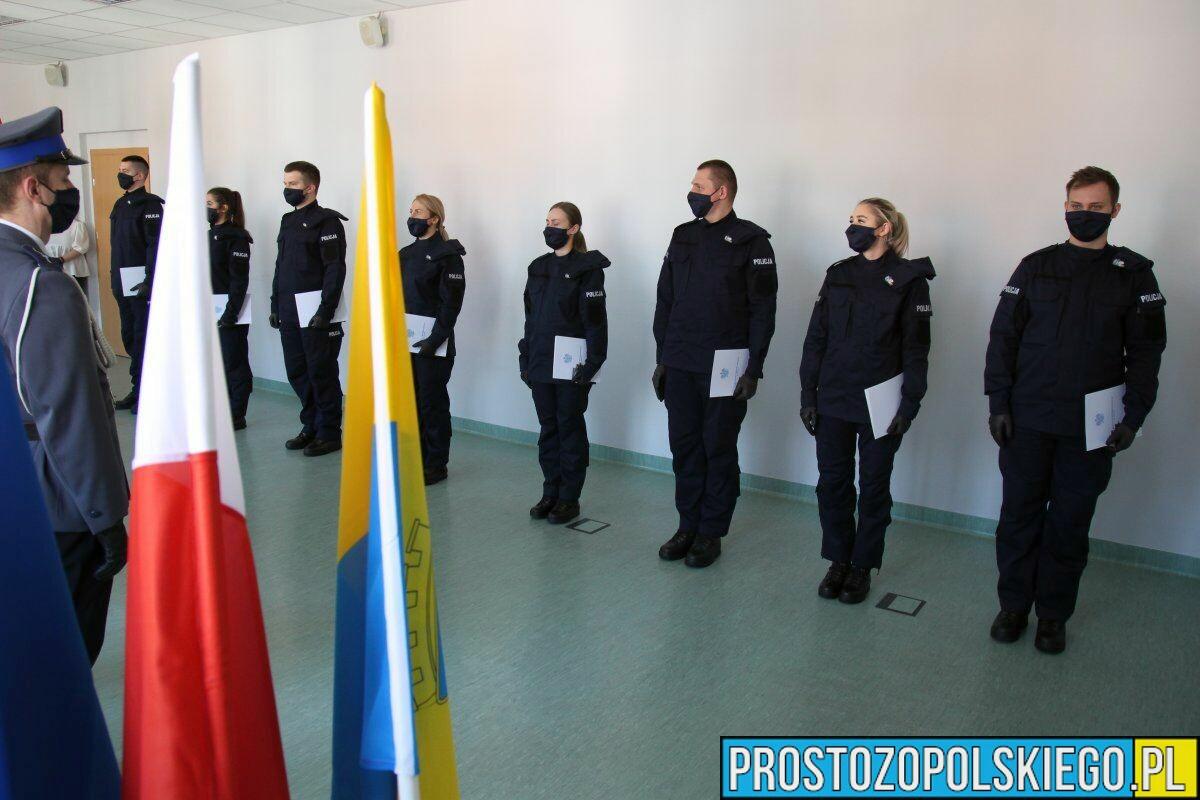 NOWI POLICJANCI ZASILILI SZEREGI KOMENDY MIEJSKIEJ W OPOLU.(ZDJĘCIA)