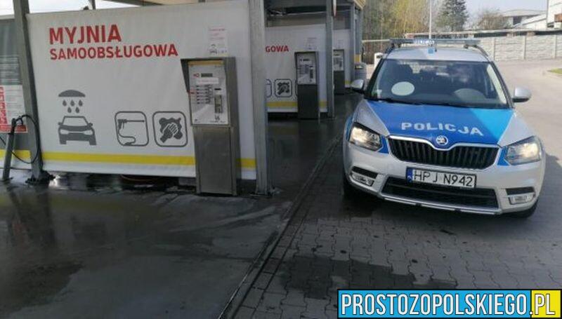 myjnia samochodowa policja złodzieje zatrzymani