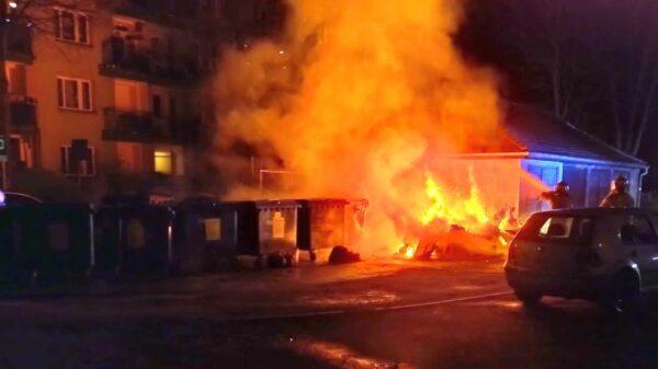 Pożar na jednym z osiedli w Brzegu. Doszło tam do podpalenia.