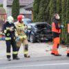 Zderzenie dwóch aut Opole-Wrzoski. Matka i trójka dzieci zabrani do szpitala.(Zdjęcia&Wideo)