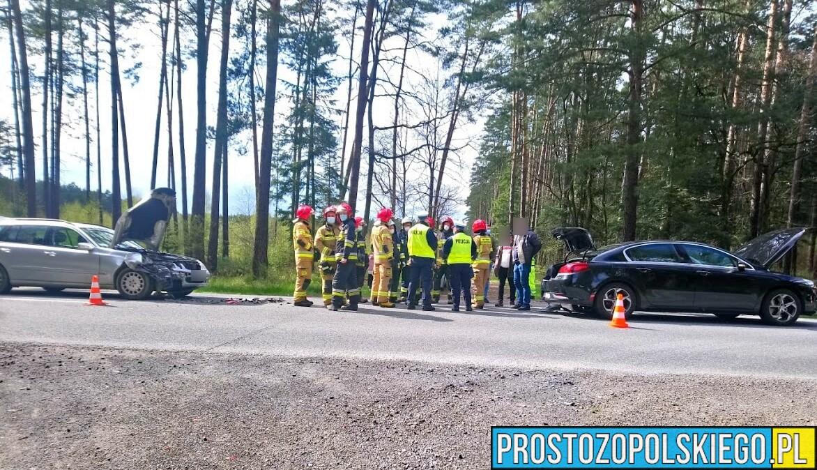 Wypadek na DW 414 Opole-Prudnik między miejscowościami Smolarnia i Ligota Prószkowska. (Zdjęcia&Wideo)