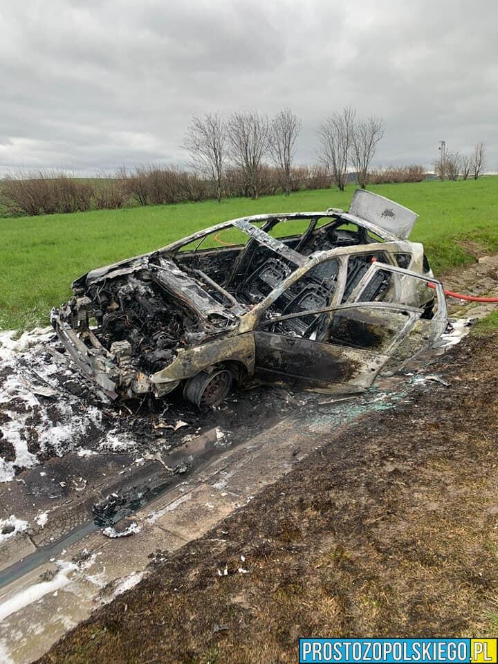 Pożar samochodu na autostradzie A4 na 270km kierunek Katowice.(Zdjęcia&Wideo)