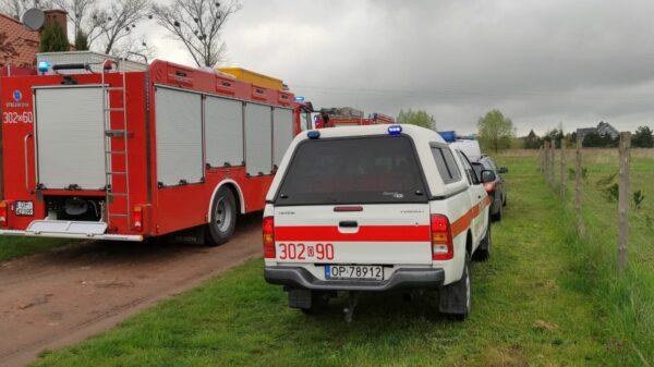 Strażacy z grupy chemicznej z Opola i Kędzierzyna Koźla na ul. Spokojnej w Kępie. Co się stało ?