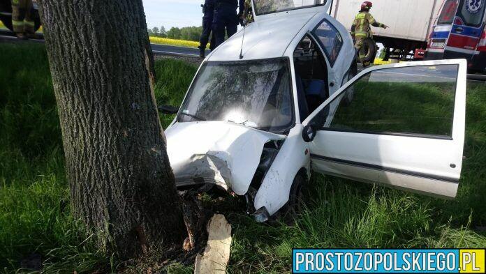 Dzisiaj (21.05), około godz. 8:15 do służb dotarło zgłoszenie o wypadku na DK 94. Kierowca