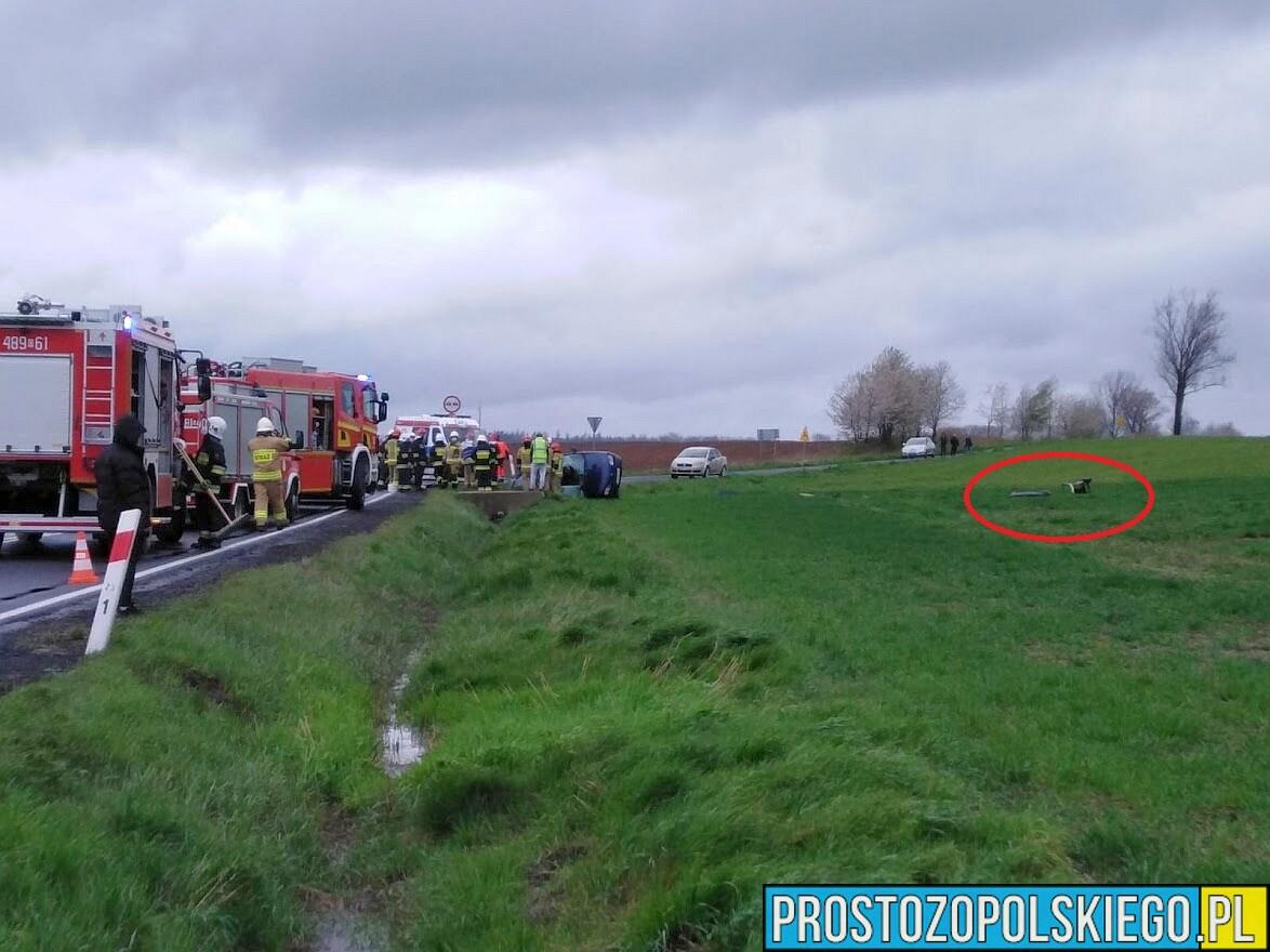 Poważny wypadek na DK 41 w Niemysłowicach koło Prudnika.