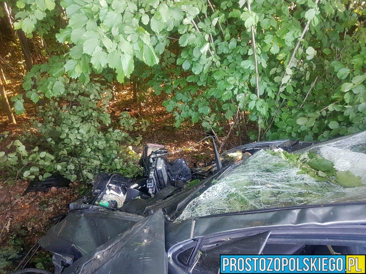 38-latek dachował autem na dw 411 w miejscowości Nowy Świętów. Badanie wykazało ponad 2,5 promila.
