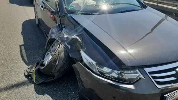 Wypadek na autostradzie A4.Na miejscu lądował LPR.(Zdjęcia)