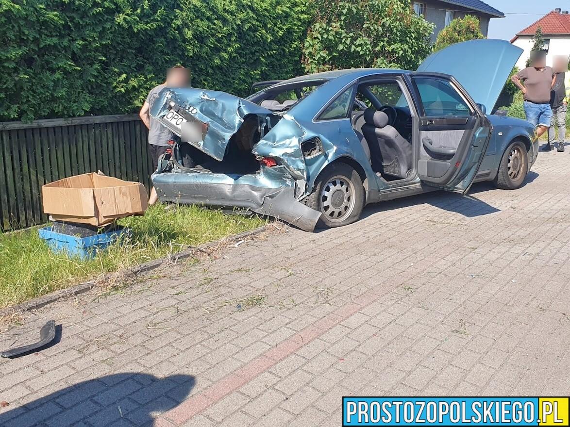 Zderzenie dwóch aut w Lędzinach.(Zdjęcia)
