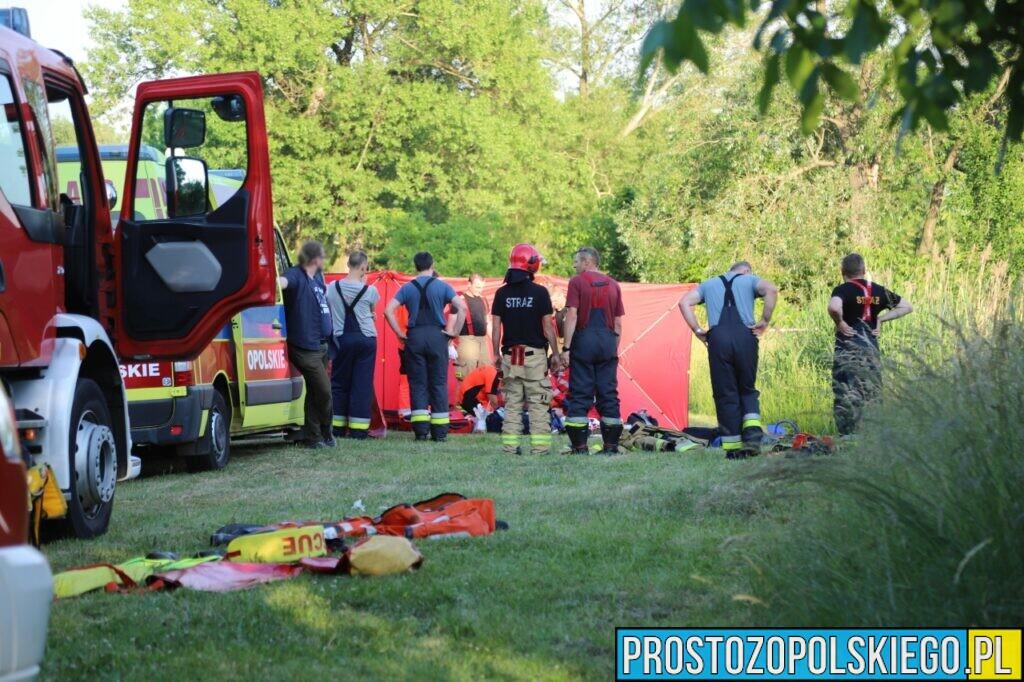 Akcja ratowania nastolatka na stawie przy ul. Narutowicza w Opolu. Na miejscu był LPR Ratownik23 (Zdjęcia&Wideo)