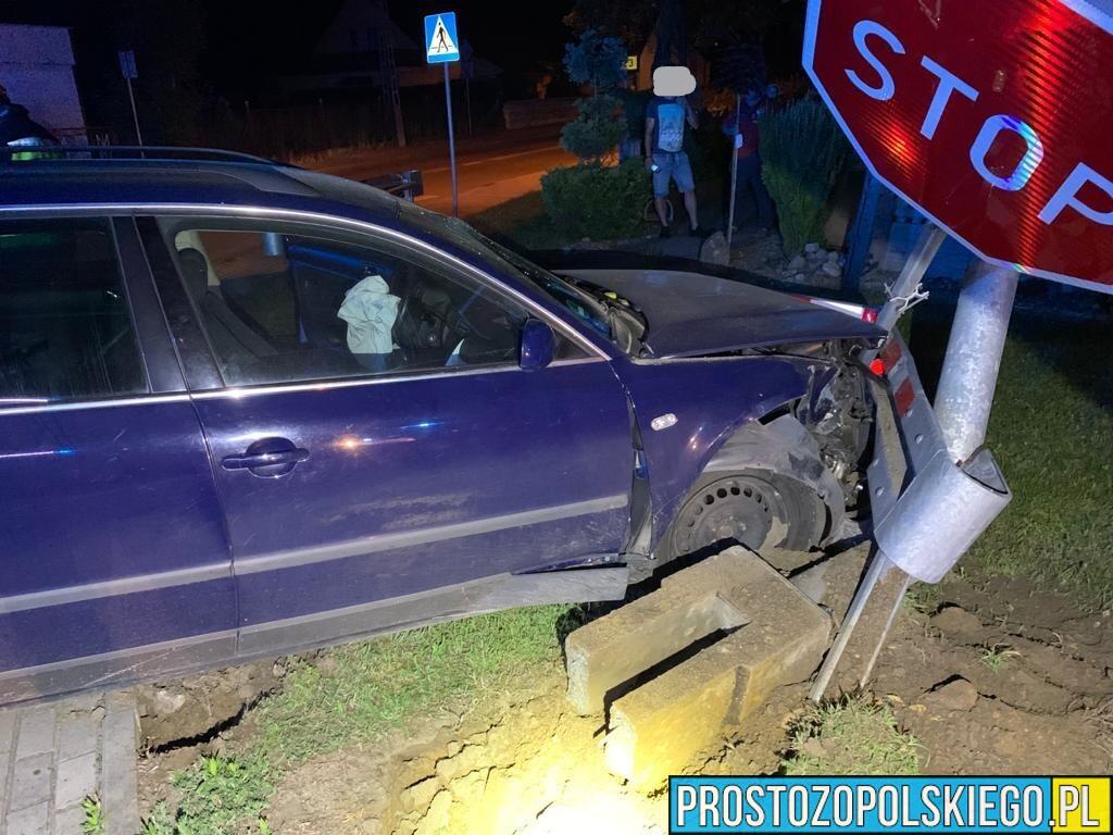 42-late kierujący autem wjechał w barierki i latarnie. Badanie wykazało ponad 1,5 promila.