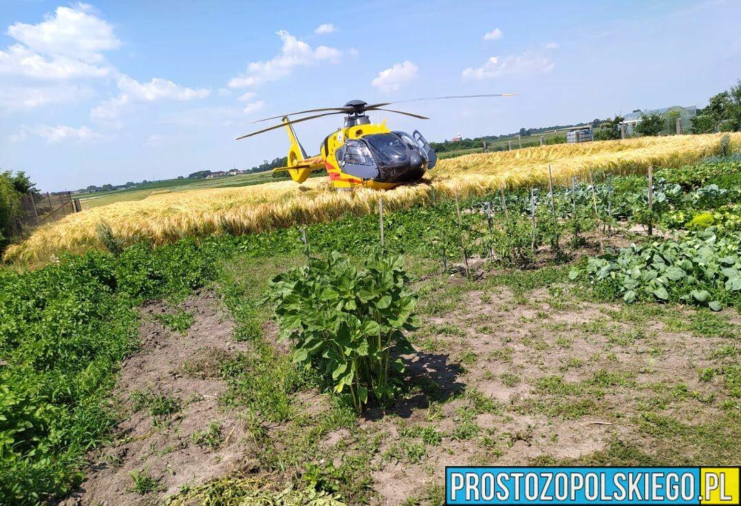 Pilna pomoc załogi LPR-u w Złotnikach koło Opola.