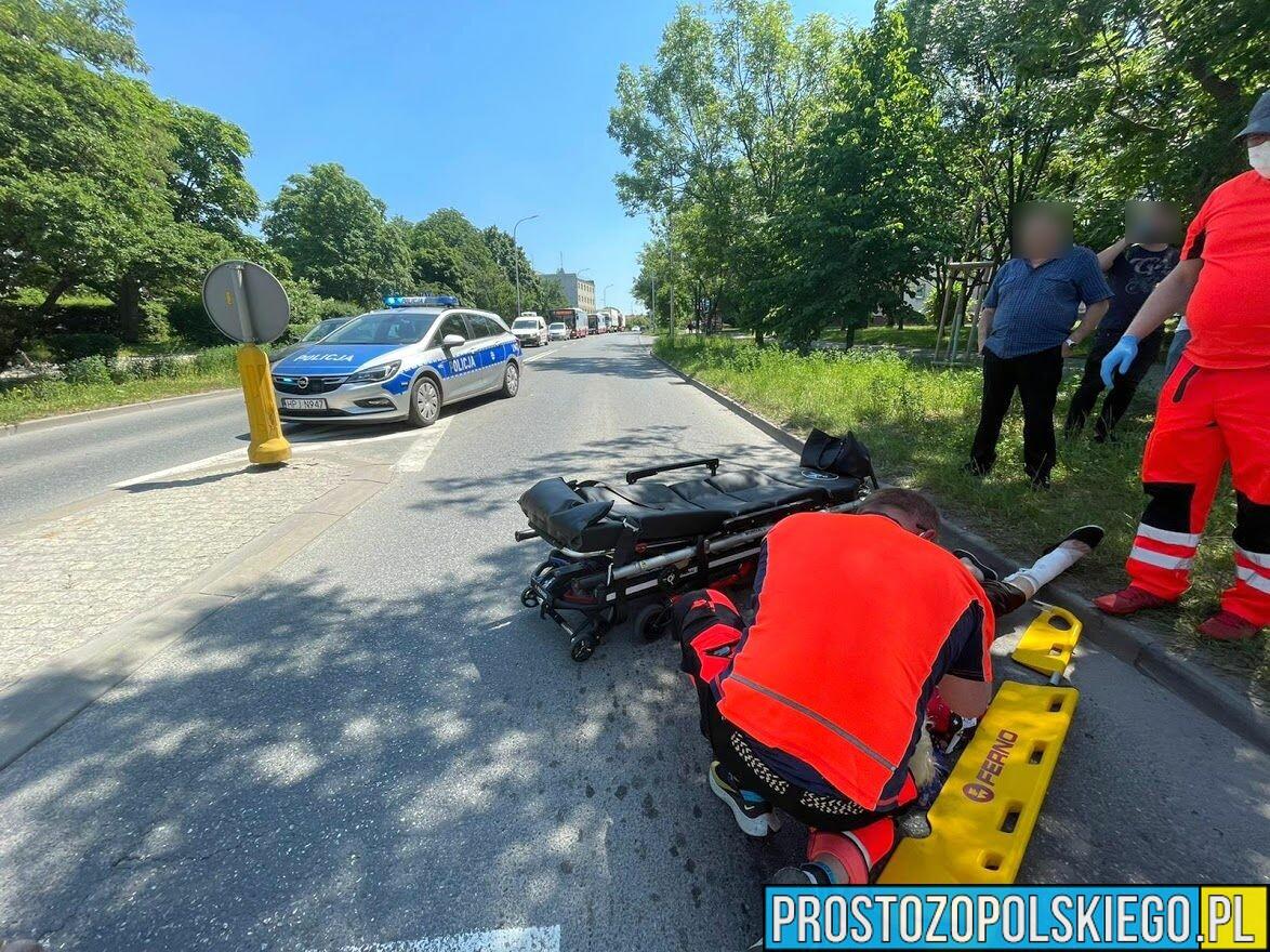 Potrącenie dwójki seniorów na oznakowanym przejściu dla pieszych w Opolu.(Zdjęcia)