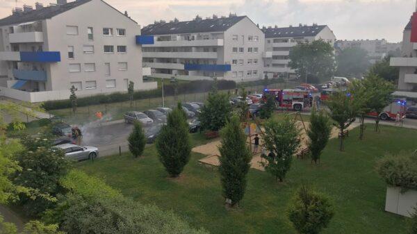 Pożar audi na ul.Sieradzkiej w Opolu.(Zdjęcia&Wideo)