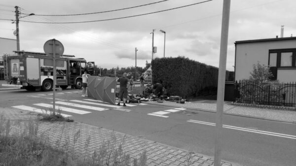 Potrącenie rowerzysty w Krapkowicach. Mężczyzna zginął na miejscu.