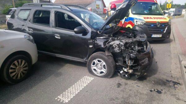 Wypadek na dk94 w miejscowości Nakło.