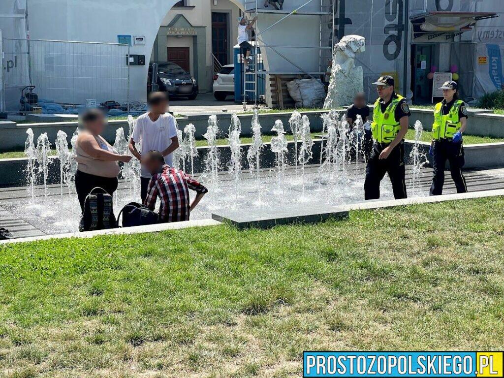 Interwencja opolskich strażników miejskich w centrum miasta przy Opolskiej Filharmonii.(Zdjęcia)