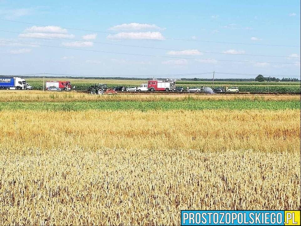 Zderzenie siedmiu aut na DW 901 w Oleśnie.