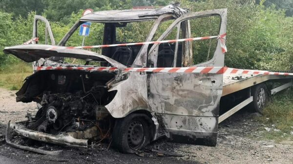 Pożar autolawety w Turawie (Jezioro Turawskie).Czy to było podpalenie?