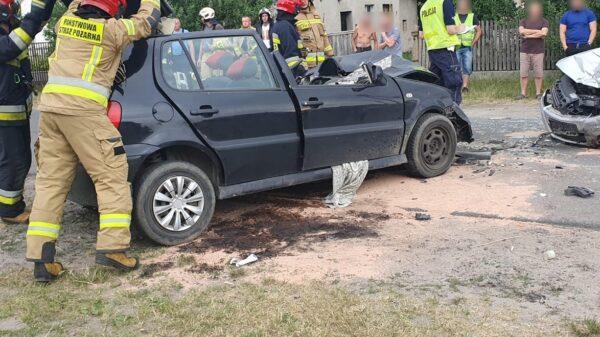 Wypadek w Krzyżowej Dolinie. Na miejscu lądował LPR Ratownik23.(Zdjecia&Wideo)