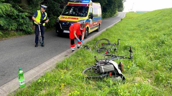 Poważny wypadek na wyspie Bolko w Opolu. Dwie osoby trafiły do szpitala.(Wideo)