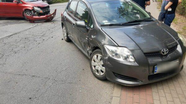 Zderzenie dwóch samochodów w Namysłowi.(Zdjęcia)