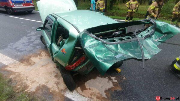 Zderzenie dwóch aut na DK 39 w okolicy Rogalic. Jedna osoba została poszkodowana.(Zdjęcia)
