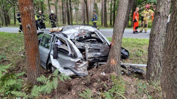 Wypadek na DK 45 w miejscowości Bierdzany. Kierowca zabrany do szpitala.(Zdjęcia)